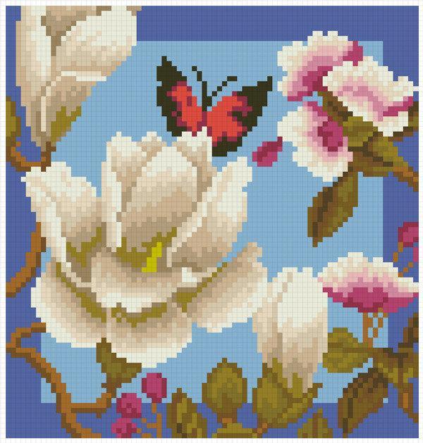 Набор алмазной мозаики Магнолия Княгина Ольга АМК-101 (20 x 20 см)