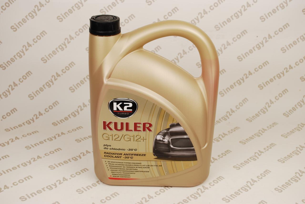 Антифриз K2 Kuler 5 л. красный G12/12+ (охлаждающая жидкость)