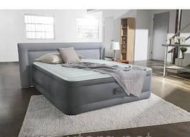 Надувная кровать 152-203-46см, встроенный насос 220V Intex 64906