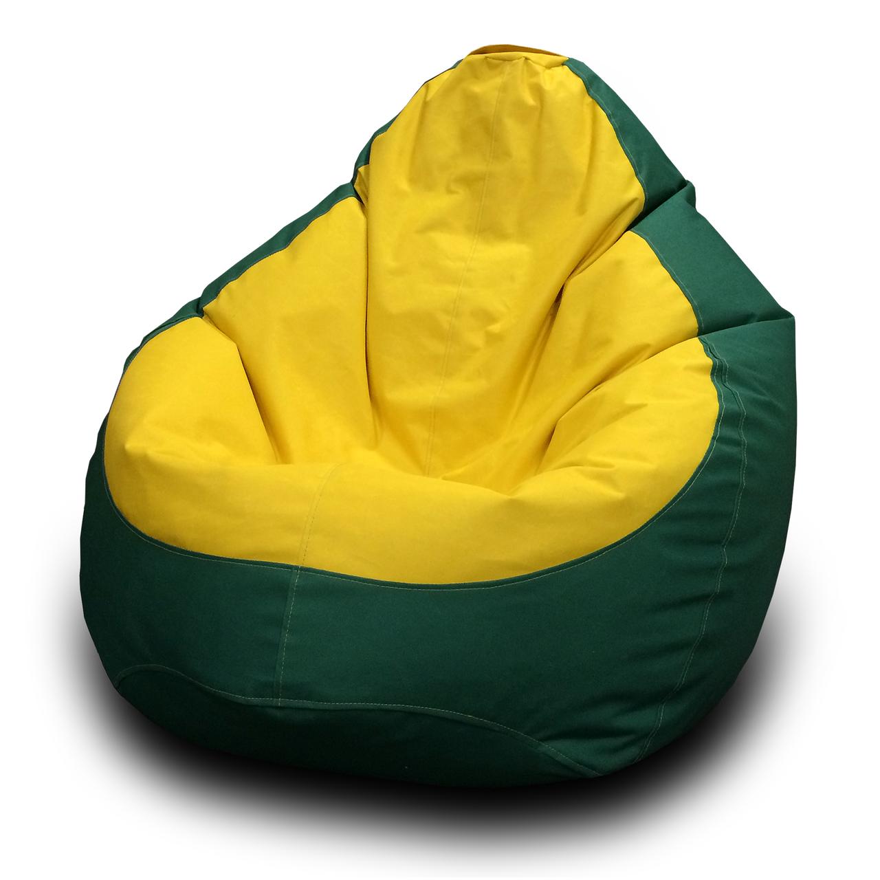 Кресло мешок груша Оксфорд Желтый/Зеленый