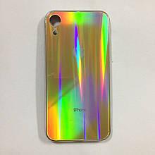 Чехол для iPhone XR Holografic Gold