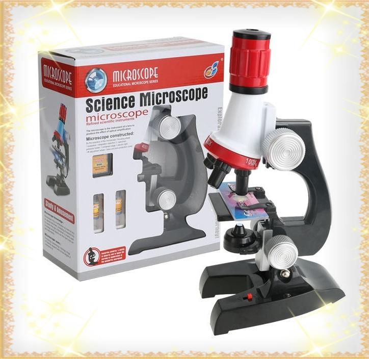 Детский микроскоп школьный с 1200 Х LED увеличением для ребенка Chanseon 1411 (10753)