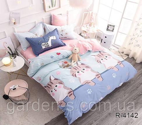 Комплект постельного белья с котиками ТМ TAG 1,5 спальный комплект, фото 2