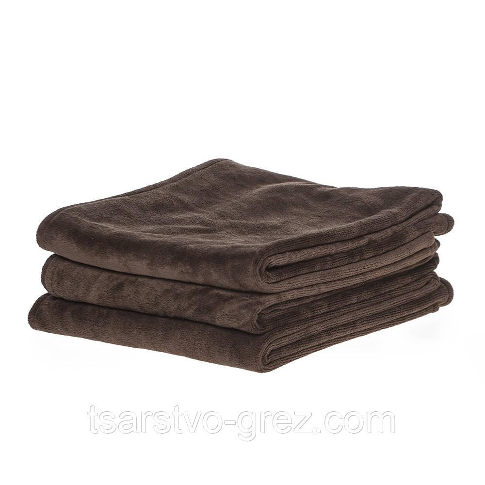 Полотенце 35*75см из микрофибры 400 г/м2 для маникюра-педикюра, коричневое