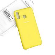 Силиконовый чехол на Samsung A20 Soft-touch Lemon