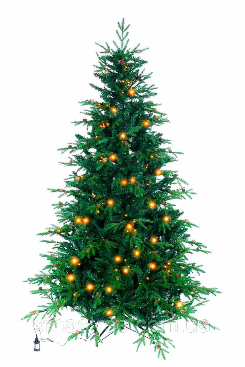 Искусственная елка Рождественская LED 210 комбинированная со светодиодами