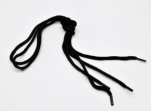 Шнурки чорні 100 мм круглі