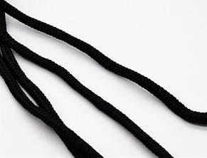 Шнурки круглі чорні 100 мм, фото 2