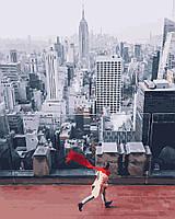 Красный шарф в нью йорке