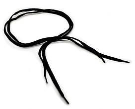 Шнурки чорні 100 мм плоскі