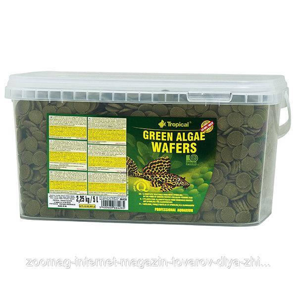 """Корм для донных рыб """"Green algae wafers"""" (5L /2,25kg) Tropical™"""