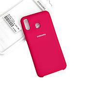 Силиконовый чехол на Samsung A20 Soft-touch Rose
