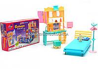 Детская игрушечная мебель Глория Gloria для кукол Барби Спальня 21014. Обустройте кукольный домик