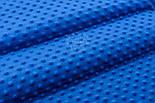 Отрез плюш minky М-79 размером 40*40 см, цвет светло-синий, фото 3