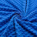 Отрез плюш minky М-79 размером 40*40 см, цвет светло-синий, фото 2