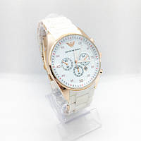 Женские наручные часы Emporio Armani (Эмпорио Армани), белые ( код: IBW256O )