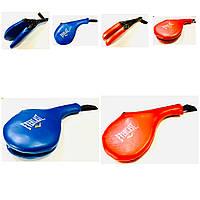 Ракетка (хлопушка) для тхеквондо двойная синяя, красная, фото 1