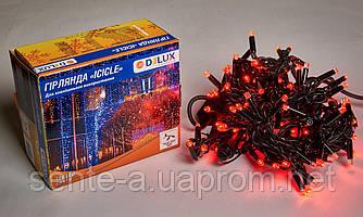 Гирлянда внешняя DELUX ICICLE 108 LED бахрома 2x1m 27 flash красный/черный IP44 EN