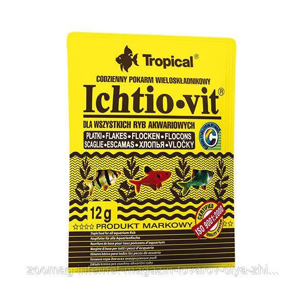 """Корм для всех видов рыб """"Ichtio-vit"""" (хлопья-12g) Tropical™"""