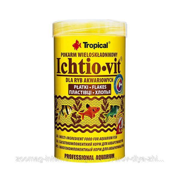 """Корм для всех видов рыб """"Ichtio-vit"""" (хлопья-250ml /50g) Tropical™"""