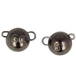 """Груз-головка """"Чебурашка"""" GC разборная вольфрам 1г (5шт в упаковке) Black Nickel"""