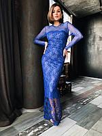 Женское Кружевное Платье в пол, фото 1