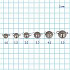 """Вантаж-головка """"Чебурашка"""" GC розбірна вольфрам 1.5 г (5 шт в упаковці) Black Nickel, фото 3"""