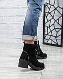 Ботинки женские со змейкой черные, фото 2