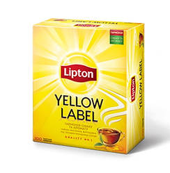 Чай чёрный Lipton Yellow Label 100 пакетиков