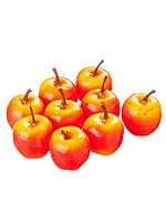 Яблоки искусственные маленькие желто-красные