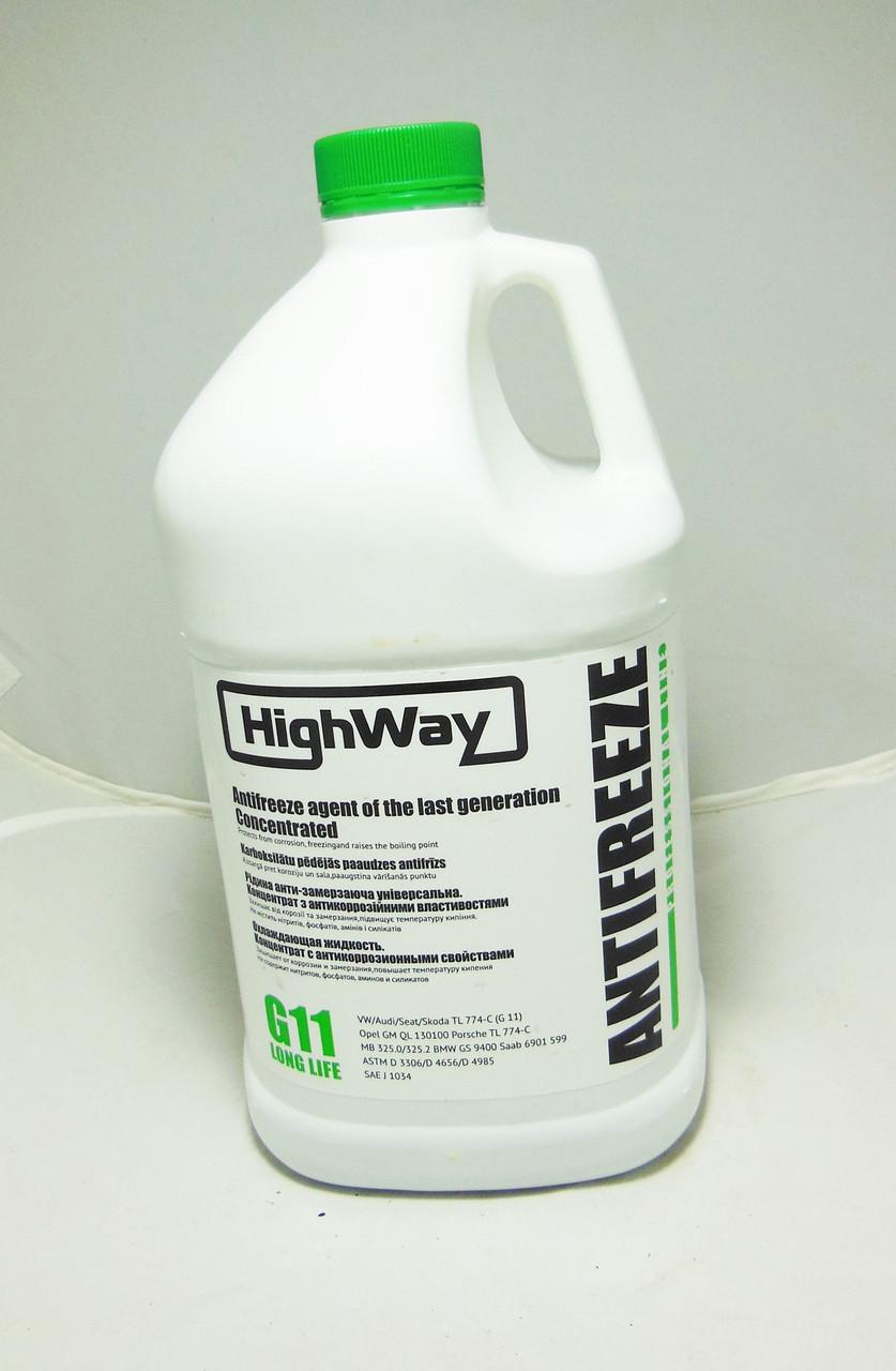 HighWay Антифриз концентрат (зеленый) 3,78л (охлаждающая жидкость)