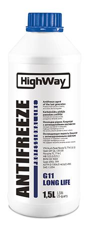 HighWay Антифриз концентрат (синий) 1,5л (охлаждающая жидкость)
