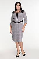 Платье в клетку с кокеткой Шелли 50-56, фото 1