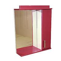 """Дзеркало для ванної кімнати з підсвічуванням і шафкою """"Колібрі"""" 65ml"""