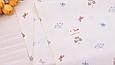 Сатин (хлопковая ткань) бабочки и листики (компаньон к бежевым лисичка)(40*160), фото 3