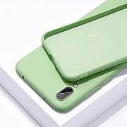 Силиконовый чехол SLIM на Samsung A20 Mint