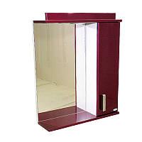 """Зеркало для ванной комнаты с подсветкой и шкафчиком """"Колибри"""" 65bm"""