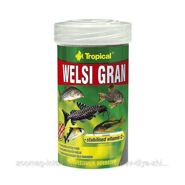 """Швидко потопаючий корм для акваріумних риб """"Welsi Gran"""" (гранули-5L /3.2 kg) Tropical™"""