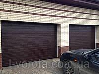 Alutech (Алютех) серия Trend секционные гаражные ворота  ш3500, в2200, фото 2