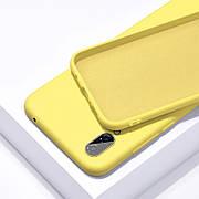 Силиконовый чехол SLIM на Samsung A20 Yellow