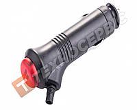 Автомобильный штекер в гнгездо прикуривателя универсальный 8.5А с кнопкой переключения режимов (пр-во Турция)