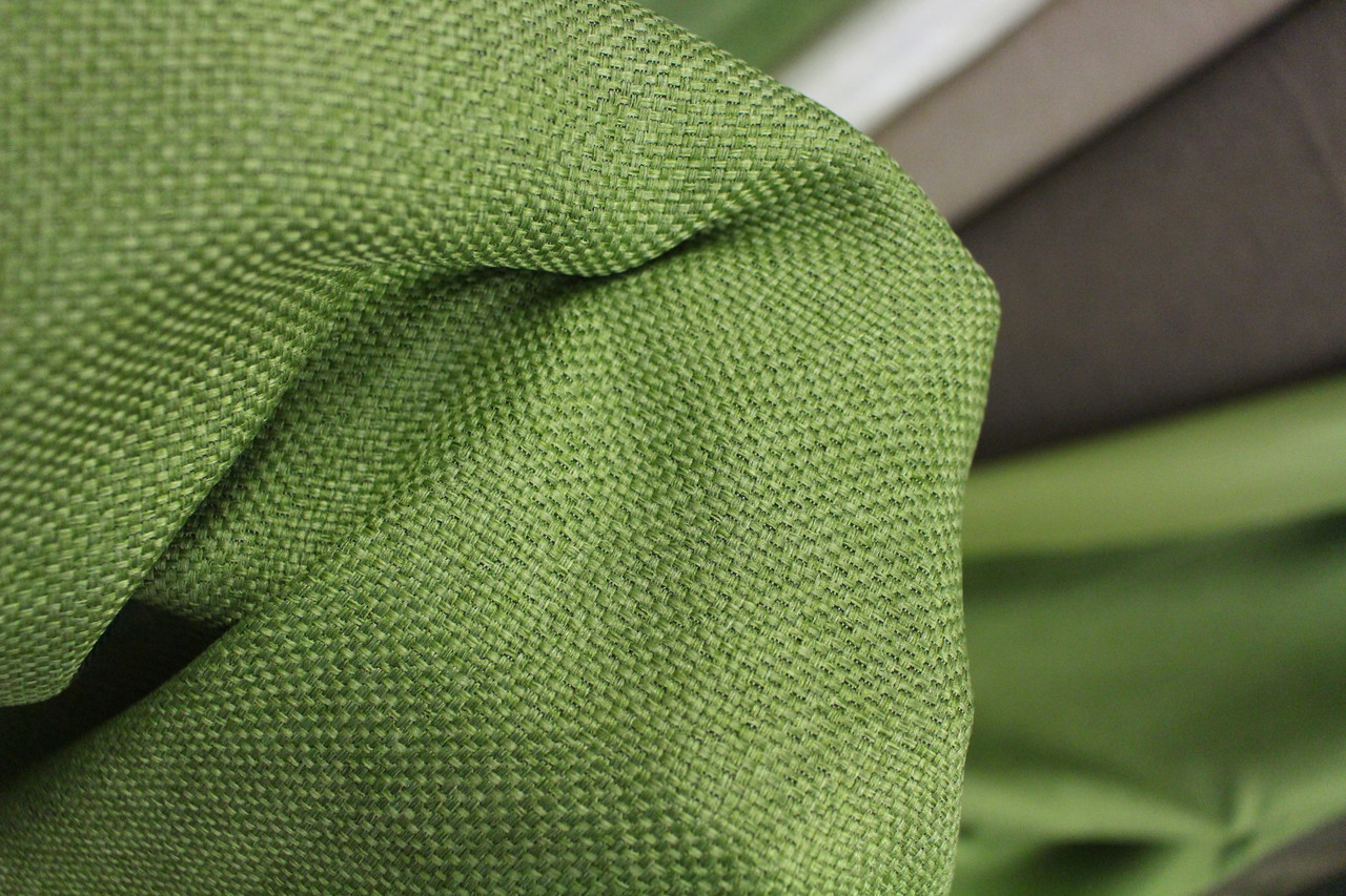 Тканина для штор мішковина зеленого кольору