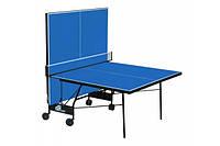 Теннисный стол для помещения GSI-Sport Compact Premium (Синий) Gk-6  + Набор для настольного тенниса (2р+3м)