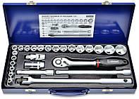 Набор инструмента головок и насадок 1/2 26 позицій Cr-V Konner 52-250