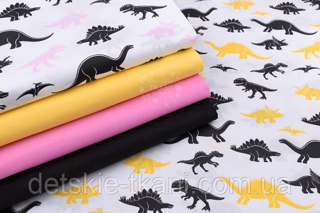 хлопковая ткань с динозаврами