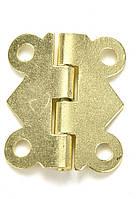 Петля завис  25х20 мм цвет золото, фото 1