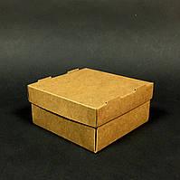 Коробка из крафт картона с крышкой 100х100х50мм