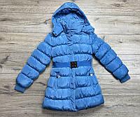 Зимнее пальто на синтепоне ( подкладка- мех), со съемным капюшоном. 14- лет.