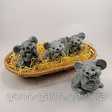 Мишка мило ручної роботи щур мило натуральне Подарунок