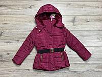 Теплая курткана синтепоне ( подкладка- мех). 4 - 8 лет.